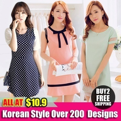 ( New Arrivals)All At 1 Price $10.90  Plus Size (S-XXXXL)   New Arrivals Korean Ladies Fashion Dress [Buy 2 Free Shipping]
