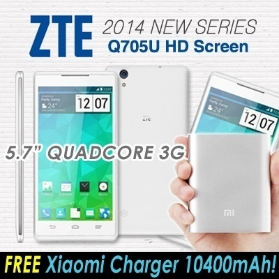 "ZTE (Q705U / 2014 new series) 5.7"" QuadCore 3G smartphone(Worth S$408)MTK6582 1.3GHz Quad Core Dual Sim 1280*720 With 5.7inch HD Screen/Google Play Store ready"
