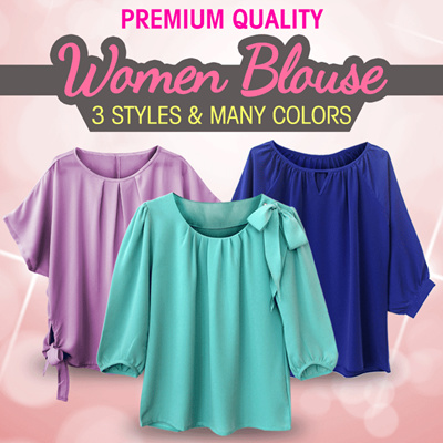 "[Premium Quality] ""Women's Blouse"" ""4styles  Many Colors"""