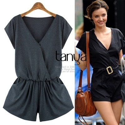★FAST Free shipping★ SUMMER NEW JUMP SUIT/LOOSE FIT/Natural Banding wrap style/Korea style/woman fashion