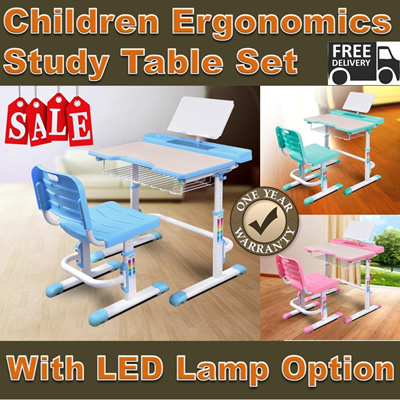Children Ergonomic Study Table and Chair Free Delivery and Installation One Year Warranty Best CNY Gifts Chinese New Year Gifts