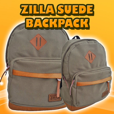 ZILLA SUEDE UNISEX BACKPACK/TAS RANSEL SUEDE**GOOD QUALITY