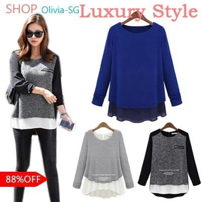 [Olivia] Super Deal Today!! ★BUY 2 FREE SHIPPING★The Newest Korean Urban Style Tops/New Arrival/Blou
