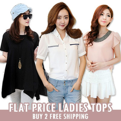 FLAT PRICE 10.90 ONLY! EU Korean Fashion Tops Blouses Dresses Casual T-shirt