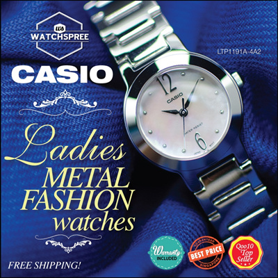 [CHEAPEST PRICE IN SPORE] *CASIO GENUINE* LADIES METAL FASHION SERIES! Free Shipping and 1 year warranty! Free Metal Strap Adjustment!