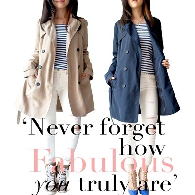 Trendy Trench Coat_Long Coat_Premium Quality_100% Original Brand_Cheapest!!