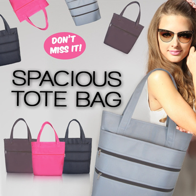 THE GREAT SPACIOUS TOTE BAG_AVAILABLE COLOUR GREY_BROWN_BLACK_PINK FASHIONABLE_LIFESTYLE_FUNCTIONAL