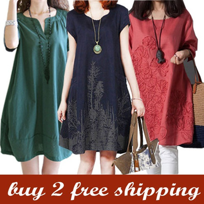 [18/11 Update] LINEN DRESS COLLECTION - DRESSES TOPS JUMPERS BOTTOMS - PLUS SIZE - BUY 2 FREE SHIPPING