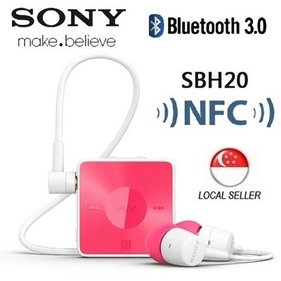 [Sony] Sony SBH20 NFC Stereo Bluetooth 3.0 Wireless Headset Earphones Local Set With 1 Year Warranty