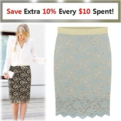 ★[Price Going Up Soon!] Extra 20% OFF★★Get 10% OFF for Every $10 Purchase★[[Free-Shipping Gold-Rubber band lace skirt] 2014 Best Popular skirt /women fashion women clothing winter