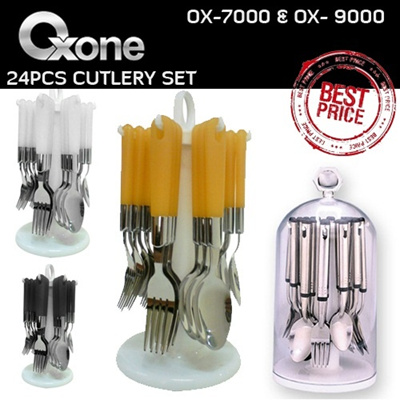 OX-7000 And OX-9100 [♥24PCS SENDOK GARPU SET OXONE♥] ▶ BESTSELLING ▶ CUTLERY SET