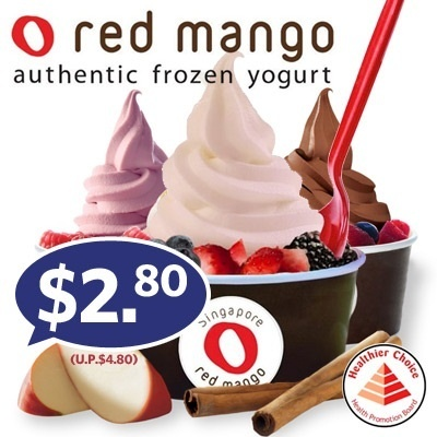 $2.80 for 4oz Cup of Original or Flavoured Yogurt + 1 Topping at Red Mango in 2 Locations