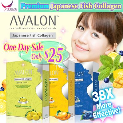 [One Day Sale! FREE Gift worth $16! UP $58.90] Proven Effective ❤ No.1 Collagen in SG ❤ AVALON™ Japanese Fish Collagen 3 Flavours with Antioxidants ❤ 100% Pure Premium Collagen ❤ Anti Aging