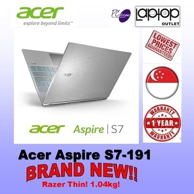 Acer Aspire S7-191! The ultrabook that challenges Macbook Air! 1.04kg with FHD Touch Screen!