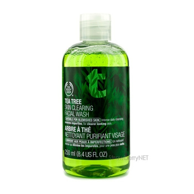 The Body Shop Tea Tree Skin Clearing Facial Wash (Untuk Kulit Bernoda) 250ml/8.4oz