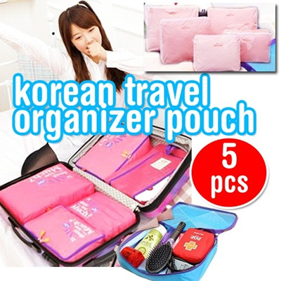 5 in 1 **Travel Organizer Pouch** bags in bag