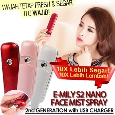 EMILY S2 NANO FACE MIST SPRAY + CHARGER 2nd GENERATION! 10X BETTER ABSORPTION from IBeauty!! WATER YOUR SKIN NOW! / Nano Handy Mist / Moisture Skin / Enjoy it at any time in any place