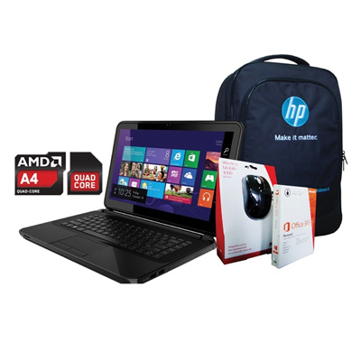 HP14-d014au.(G0A19PA) - Windows 8.1 - 14 - 500 GB AMD Quad-Core A4-5000(1.5GHz 2MB)FREE Microsoft Office 365 Personal