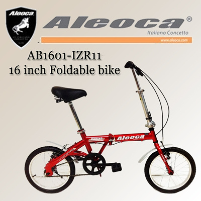 [Aleoca] AB1601-IZR11 16 inch single speed foldable bike / folding bike/ singele speed / foldable bicycle