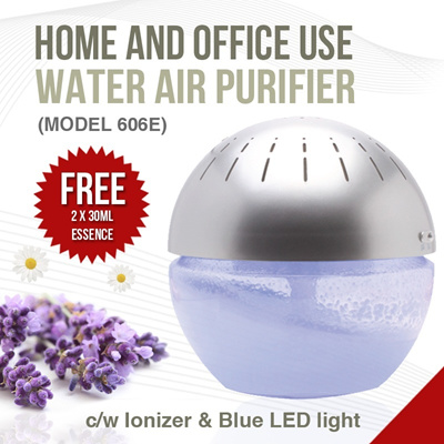 Model 606E Air Revitalizer / Water Air Purifier [Cleans The Air and Removes Odour] Aromatherapy haze