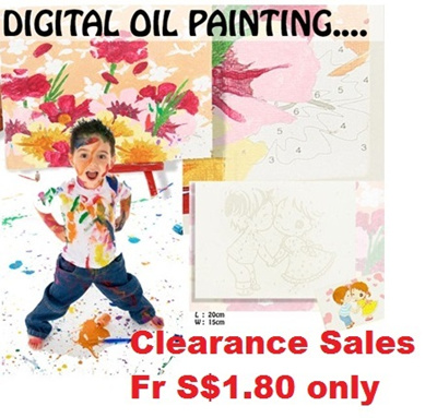 Clearance Sales...Digital Oil Painting / DIY Painting / Coloring ...