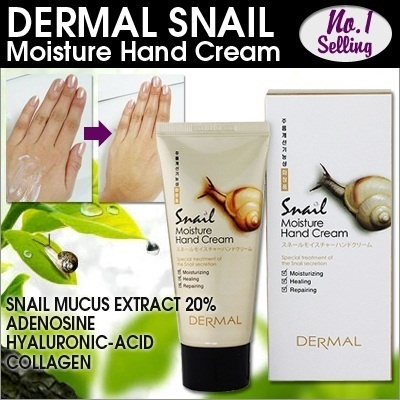 [DERMAL KOREA] No.1 Selling item! DERMAL Snail Hand Cream/Shara Shara Snail