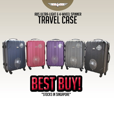 ★WINNING LUGGAGE★ ABS Ultra-Light 4-Wheel Spinner Travel Case! Fast Delivery!