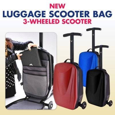 [READY STOCK]-NEW Luggage Scooter Bag 3-Wheeled Scooter
