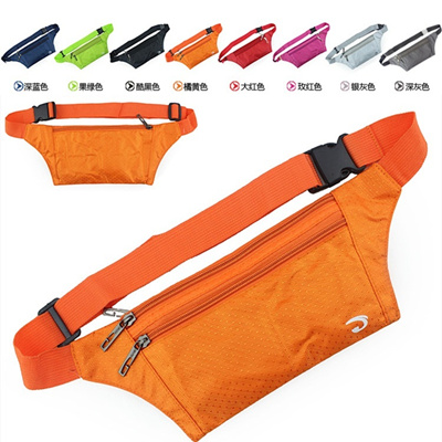 【GOODSSTAR】FREE SHIPPING★Double Zipper Shorts Padded bag/Waist Pouch★Sports Training/bicycle/Running/Pouch/Joggin/bicycle#6219