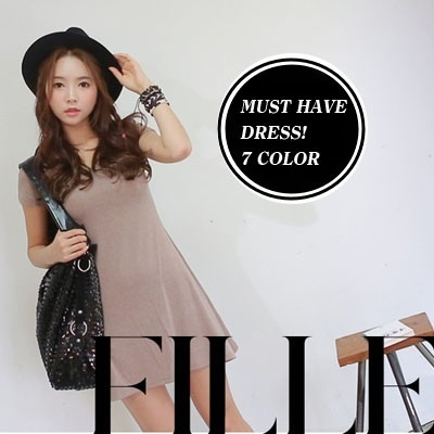 [SooniShop]High quality flare dress/mini dress