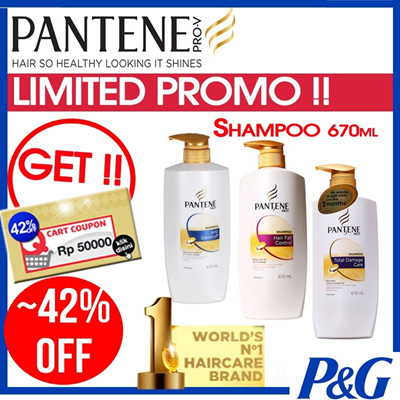 Pantene Shampoo Pro-V [670ml] - COMPLETE OPTIONS to suits your Hair Type
