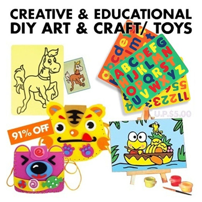 3D Foam Stickers DIY Creative and Educational Toys: 3D Foam Art / Bag
