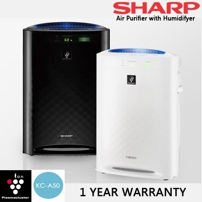 [SHARP] PLASMACLUSTER AIR PURIFIER WITH HUMIDIFYING * KC-A50E * BEAT THE HAZE * 1 YR WARRANTY