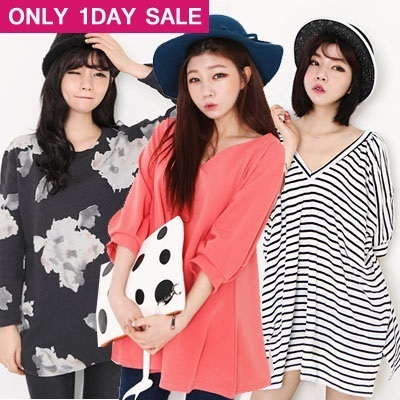 ★[Price Going Up Soon!] Get 10% OFF for Every $10 Purchase★【The Da Da】Hot sale!!Summer new arrivals/ Girls' T-shirts/ Casual  loose blouse/ long-sleeved  stripe pattern shirts/ Girls' dress/Big size/A