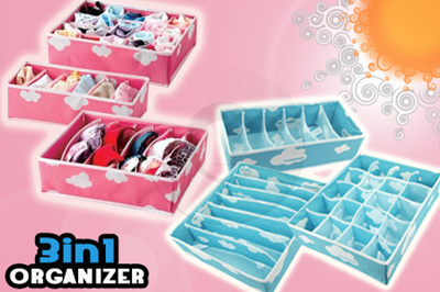 [MUST HAVE ITEM]** 3IN1 ORGANIZER UNDERWEAR STORAGE BOX