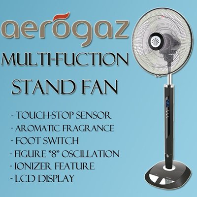 Aerogaz 16 Multi Function stand Fan with Touch Sensor AZ 1628FSR