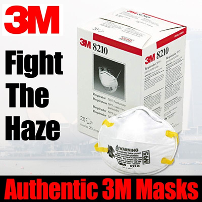 Authentic 3M Mask Haze Masks Haze masks Be free from Haze n95 8110 8210 8110s