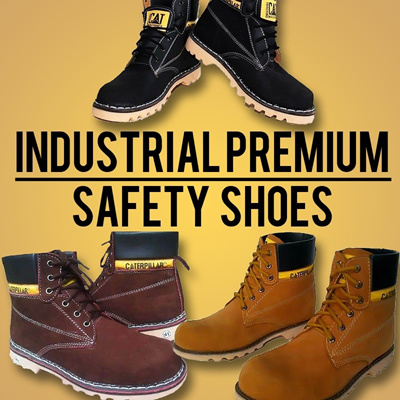 [INDUSTRIAL PREMIUM SAFETY SHOES] LOW PRICE_HIGH QUALITY_STEEL TOE INSIDE_WALKING MACHINES OIL RESISTANT SOLE_ASIAN SIZE 39-44 [AVAILABLE IN 8 VARIANT]