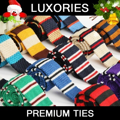 ★ Premium Ties ★ Men Fashion Knitted Knit Slim Skinny Neck Neckties Bowties Silk Man Bow Business Tie Birthday Wedding Christmas Gift