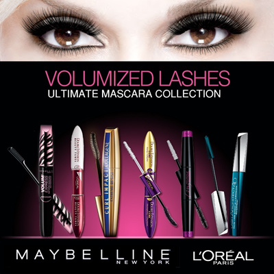 LOreal Paris Cosmetics - Mascara Collection - Volum Express / Cat Eyes / Lash Architect 4D / Double Extension / Long Extreme!