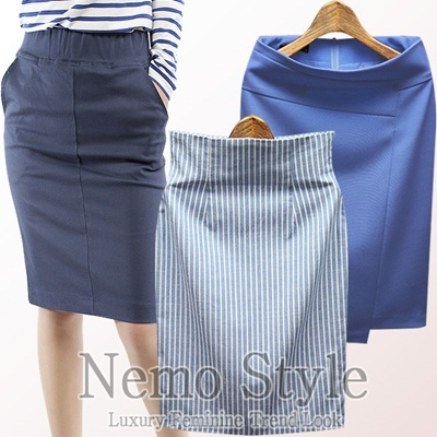 ★Super day★Summer skirt[★NEMO]Hot trendy design/Dress/Pencil skirt/Office look/Made in our own factory in KOREA/