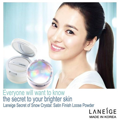 LANEIGE SCERET OF SNOW CRYSTAL- Satin Loose Powder (Made In Korea 20g)