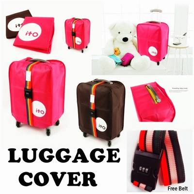 FREE BELTCODE PELINDUNG KOPER BAGASI - Safe and Easy To Use**/ LUGGAGE COVER| LINDUNGI KOPER ANDA AMAN GUNCANGAN