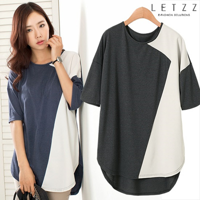 Women Fashion★Daily Fashion! 2014New Arrivals!★Batwing Long T-shirt.taf001
