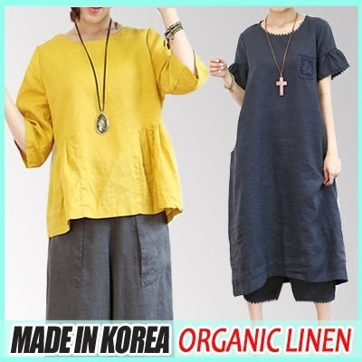 [PaulRing]$Worth!!★16/7 NewArrival★MadeInKorea BestSeller Organic Linen cotton Dress Collection★NewArrival★denim