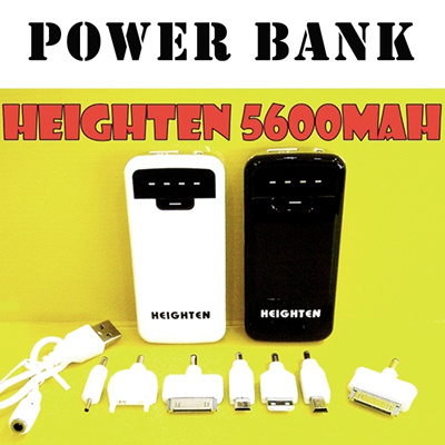 New Arrival Heighten Power bank 5600mah