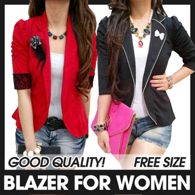 BLAZER FOR WOMEN ★ GOOD QUALITY!! ★ FREE-SIZE ★