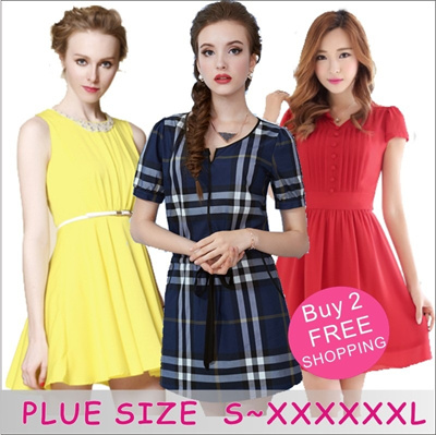 [BUY 2 FREE SHIPPING] 16/07 UPDATE! Plus Size Dress Blouse Work Dress Code Korean Style UK style