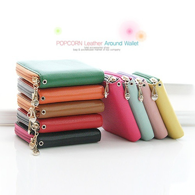 [Big Sale 50%]Cowhide Authentic Leather Wallet Purse Bag for Women/Lady Luxuary Korean Design