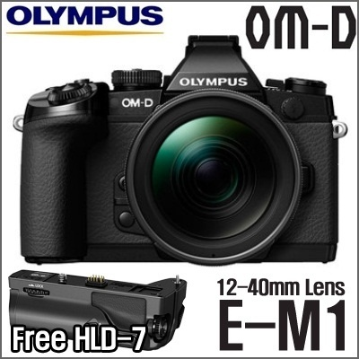 [SUPER SALE!!!]Olympus OM-D E-M1 + 12-40mm with Free HLD-7 Grip / 16.3 MP Digital Camera